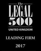 UK leading firm 2017 (The Legal 500)