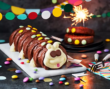 M&S Caterpillar Cake